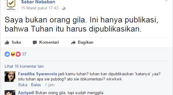Facebook Sabar Nababan