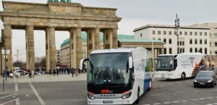 Bus di Berlin, Jerman yang di-branding Wonderful Indonesia (Ist for jawapos.com)