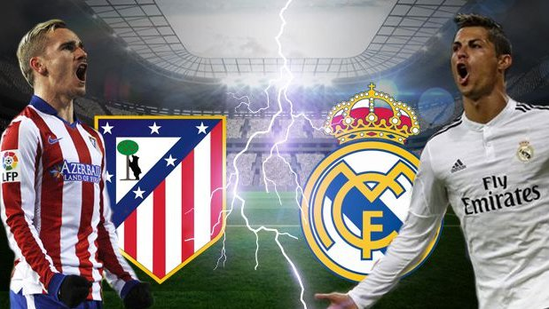 Real Madrid vs Atletico Madrid. Foto via @fastbet999