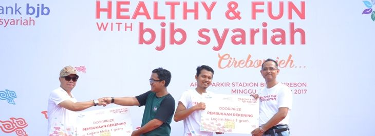 "Acara Brand Activation bertajuk ""Healthy and Fun with bjb syariah"" di Stadion Bima Cirebon"