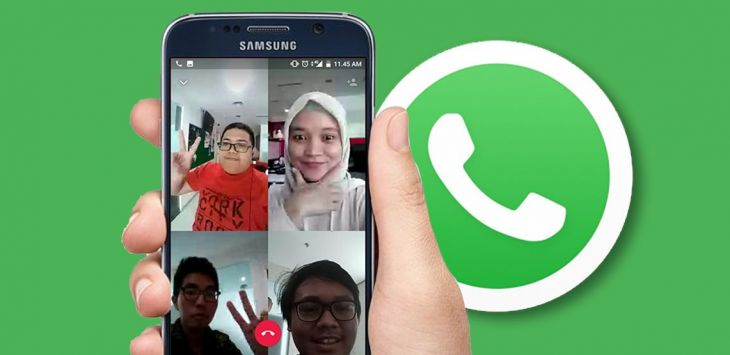 Ilustrasi video call group whatsApp
